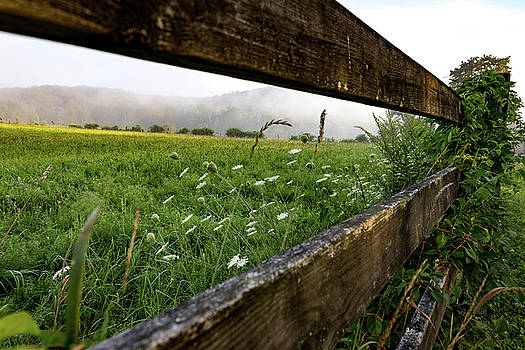 North Road Fence by Jim Gillen
