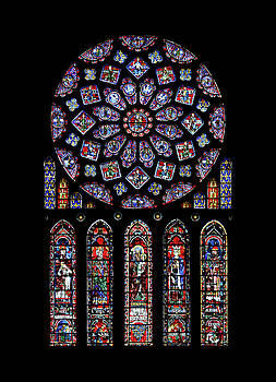 Photographed by Guillaume Piolle -  North Rose Window of Chartres Cathedral