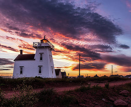 Chris Bordeleau - North Rustico Lighthouse Sunset