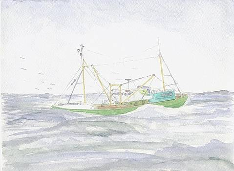 North Sea Trawler by Bart jan Beltman