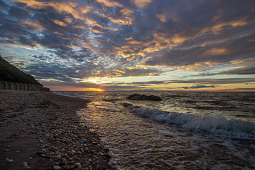 North Shore Long Island Sunset by Roderick Breem