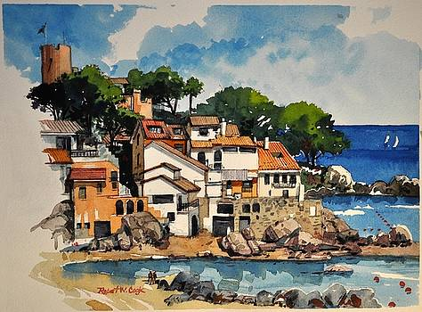 North Side of Calella de Palafrugell by Robert W Cook