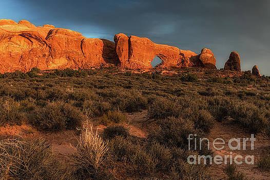 North Window Arches National Park Sunset by Tibor Vari