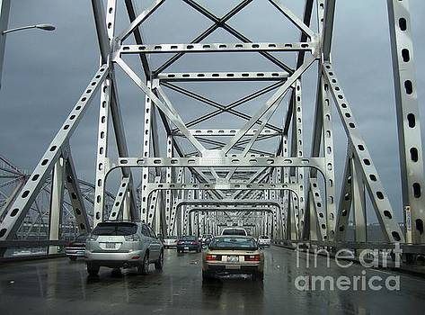 Northbound Carquinez Bridge by James B Toy