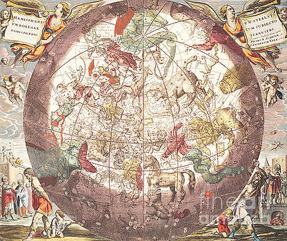 Andreas Cellarius - Northern Boreal Hemisphere, from The Celestial Atlas