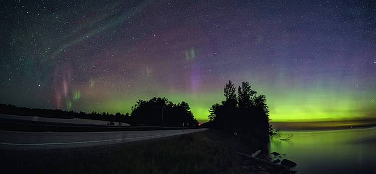 Northern Lights over Paradise by Marybeth Kiczenski