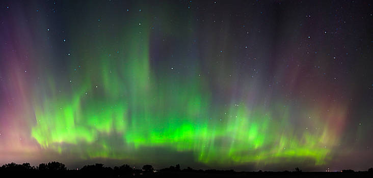 Northern Lights Panorama by Christopher Broste