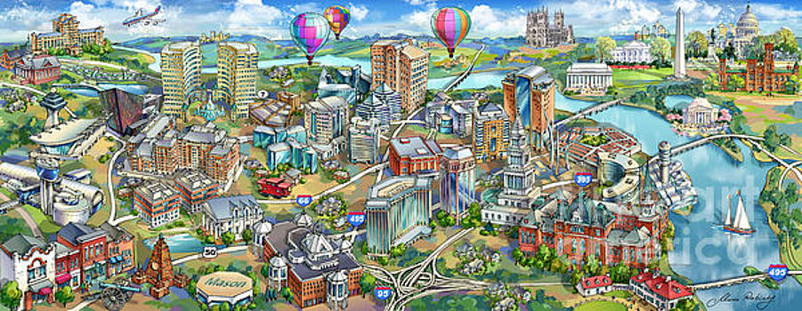 Maria Rabinky - Northern Virginia Map Illustration