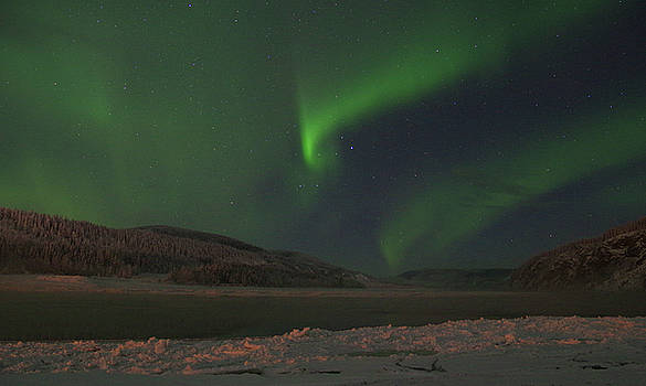 Northern Yukon Lights 6 by Phyllis Spoor