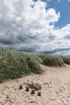 Northumberland beach poster by Gary Eason