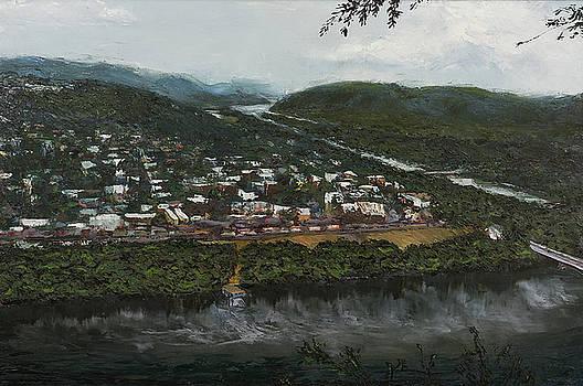 Northumberland on the Susquehanna River by Faith Saxton