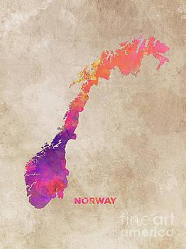 Justyna Jaszke JBJart - Norway map