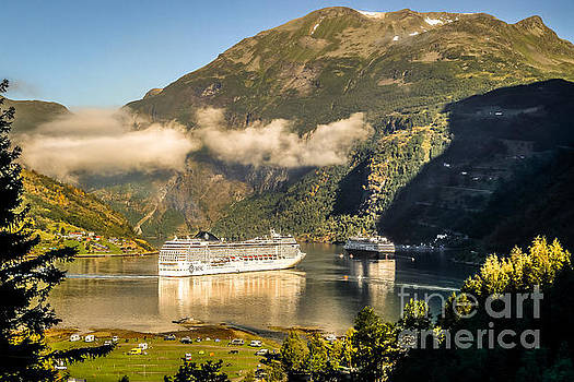 Busy morning at Geirangerfjord by Howard Ferrier