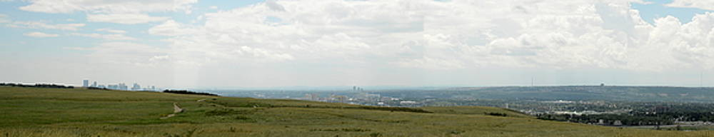 Nose Hill Park View of Calgary by Nicki Bennett