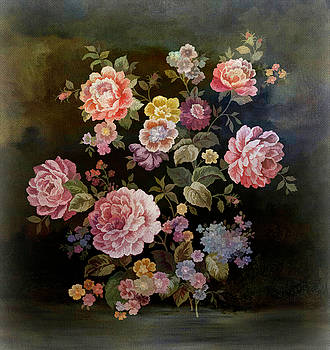 Nostalgia- Bouquet of Roses  by Grace Iradian