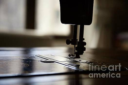 Nostalgia ..sewing machine silhouette by Lynn England
