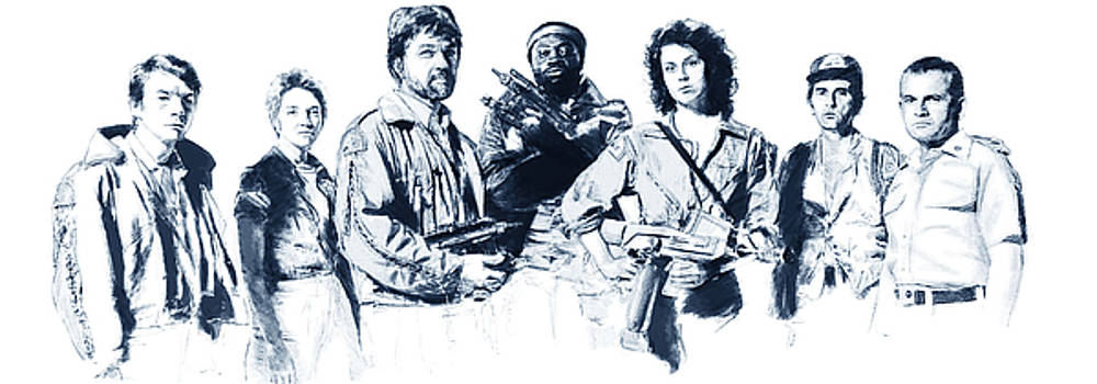 Nostromo Crew by Kurt Ramschissel