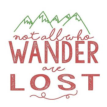 Heather Applegate - Not All Who Wander Are Lost in Pink