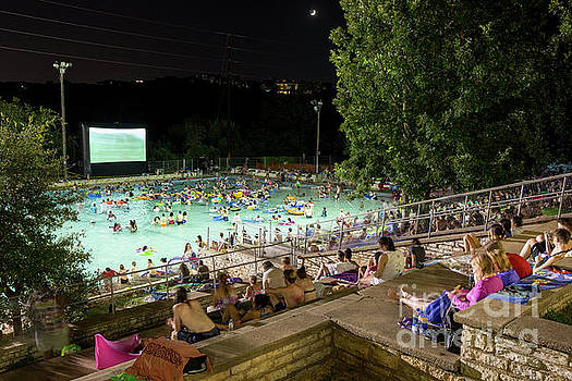 Herronstock Prints - Nothing provides relief from the brutal Texas summer heat better than the Deep Eddy Pool Splash Movie Night as Pool-goers enjoy the movie while in refreshing 70-degree water
