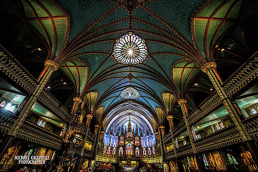 Notre Dame Basilica in Montreal Quebec by Michael Gallitelli