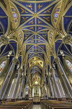 Notre Dame, Basilica of the Sacred Heart by Kevin L Cole