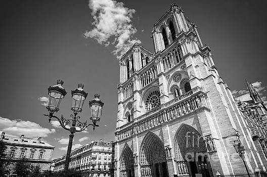 Notre Dame black and white by Delphimages Photo Creations
