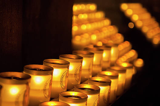 Notre Dame Candles by Paul Warburton