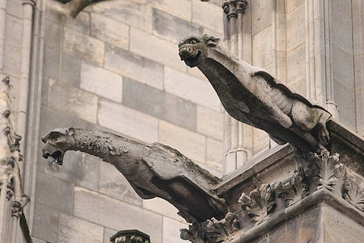 Notre Dame Cathedral gargoyles by Christopher Kirby