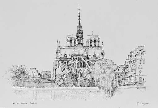 Notre Dame Cathedral in Paris by Dai Wynn