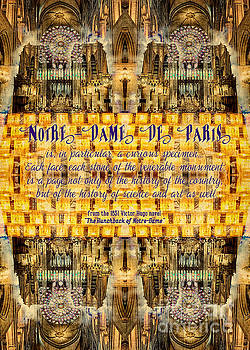 Beverly Claire Kaiya - Notre-Dame Cathedral Rose Stained Glass Candles Novel Quote