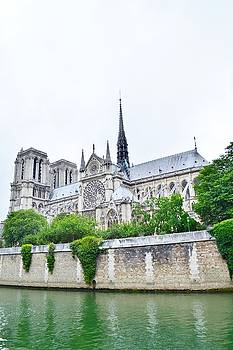 Notre Dame Cathedral Side View by Kim Bemis