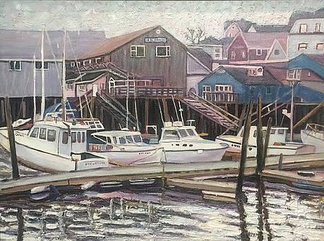 Nova Scotia Boats Resting In Harbor by Richard Nowak
