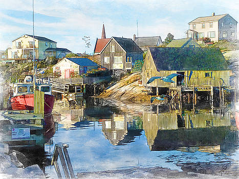 Nova Scotia Harbor by Tom Schmidt