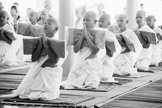 Novice Monks by Lee Craker