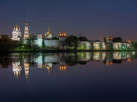 Novodevichy Convent at night by Alexey Kljatov