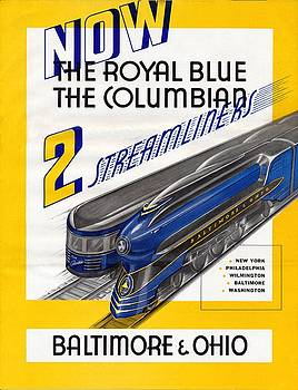 NOW The Royal Blue The Columbian by Baltimore and Ohio Railroad