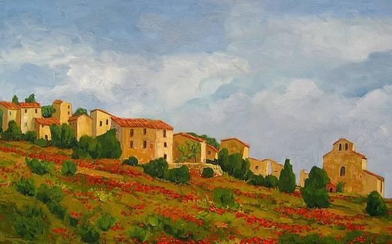 Noyer sur Jarbon Provence by Liliane Fournier