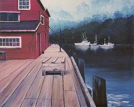 Noyo Harbor, Fort Bragg, Ca by Susan Elizabeth Wolding