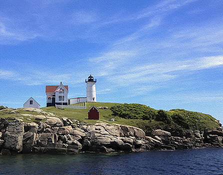 Nubble Light House by Linda Constant