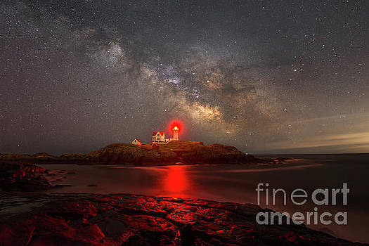 Nubble Light Milky Way Rising by Michael Ver Sprill