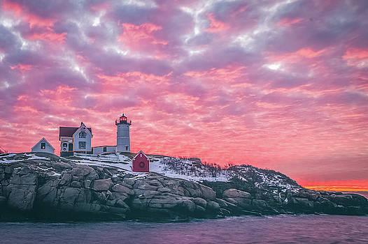 Nubble Light Sunrise by Ryan McKee
