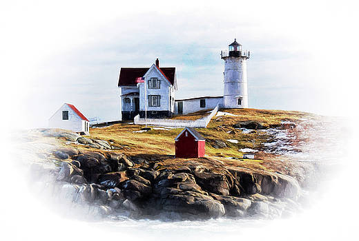 Nubble Lighthouse in Maine by Tricia Marchlik