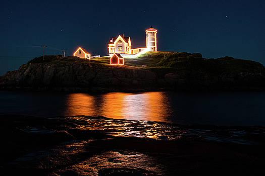 nubble Lighthouse, York Maine by Jeff Folger
