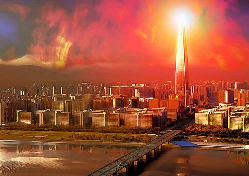 Nuclear Sky Over Seoul by Mario Carini