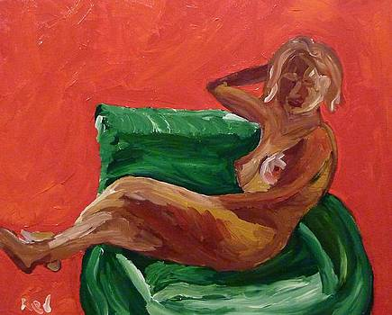 Nude and Green Chair by Joshua Redman