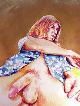 Nude Boy with Golden Hair  by Rene Capone