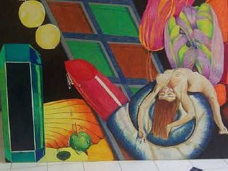 Nude collage by Sherri Ward