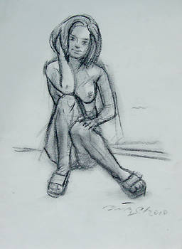Nude Drawing-32 by Anisur Rahman