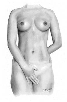 Nude Drawing by Brian Duey