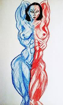 Nude Female Sketch 13 by Mark Bradley